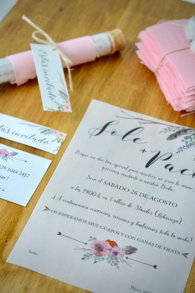 Invitaciones boda LOVE&FEST