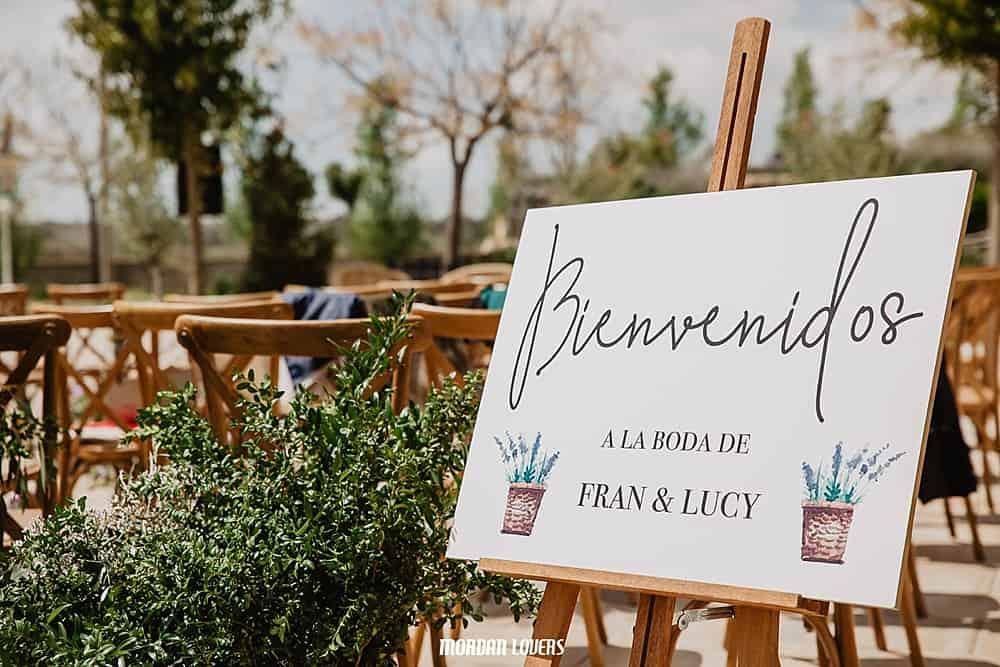 Cartel boda Bienvenidos