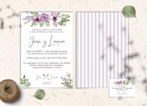 Invitaciones Colección Lavender Love&Fest