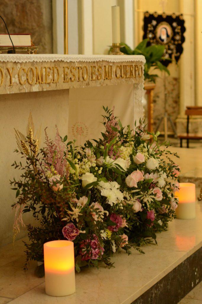 Decoración floral iglesia LOVE&FEST