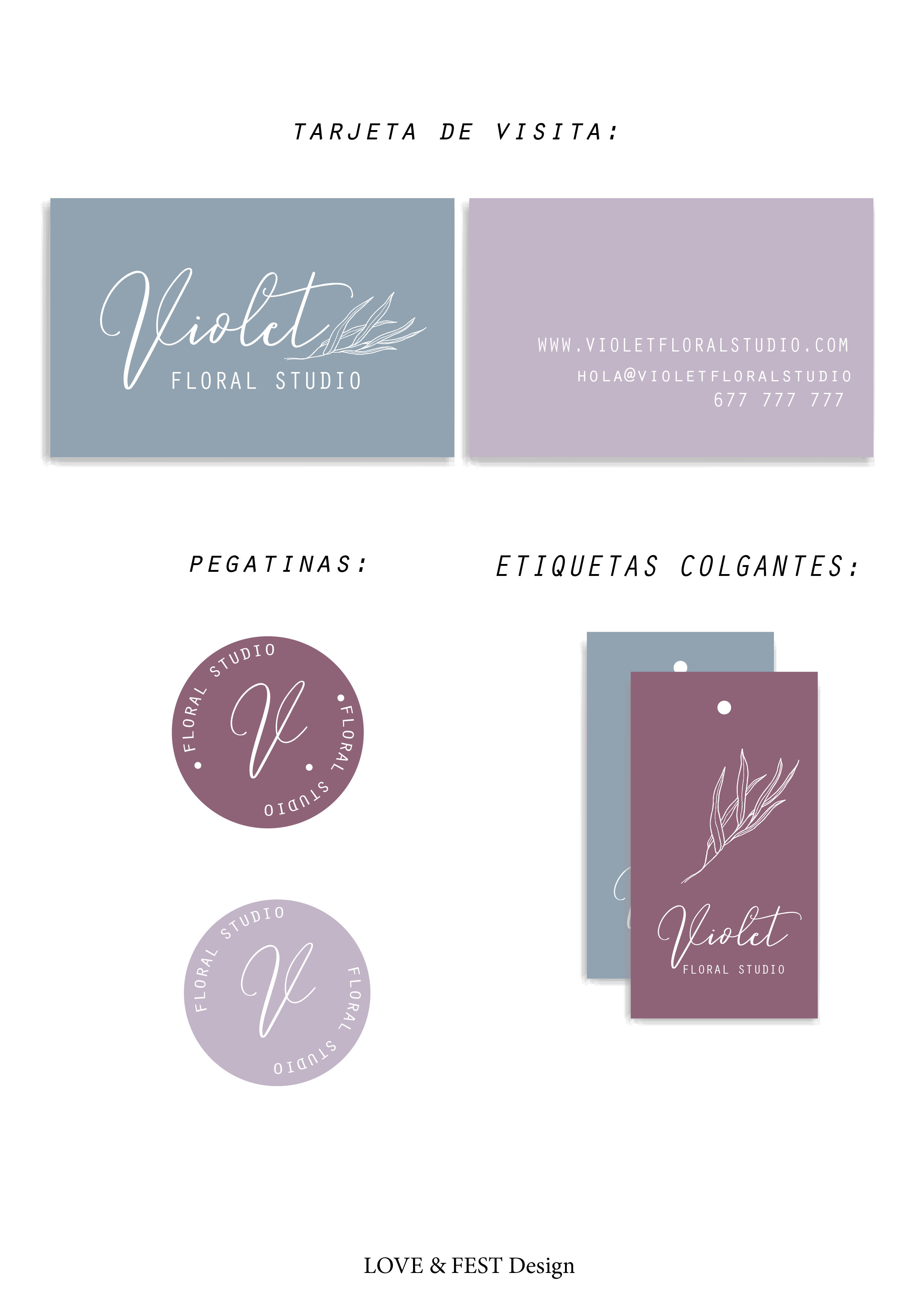 Diseño de identidad visual corporativa by LOVE&FEST