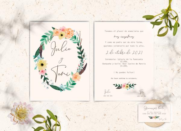 Invitaciones Colección Flowers Love&Fest