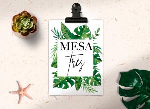 Mesero Colección Tropical Green Love&Fest