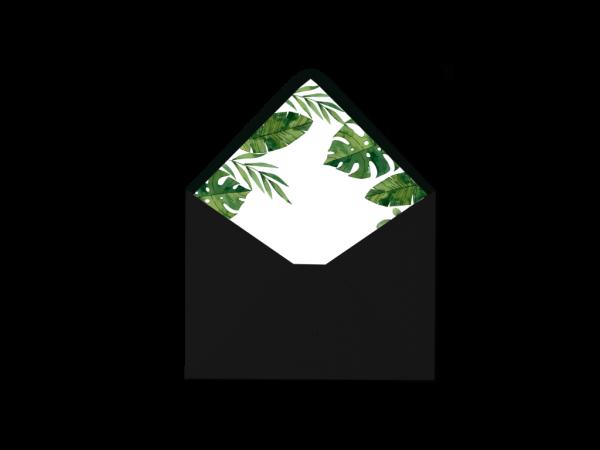 Sobre negro forrado Colección Tropical Green