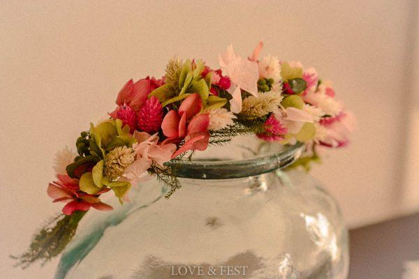 Corona de flores preservadas Love&Fest