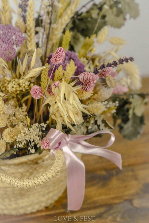 Cesto de flores preservadas 2 Love&Fest
