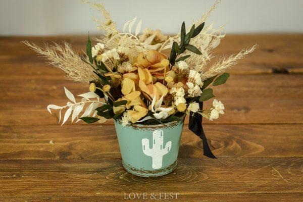 Mini cubo de flores preservadas LOVE&FEST