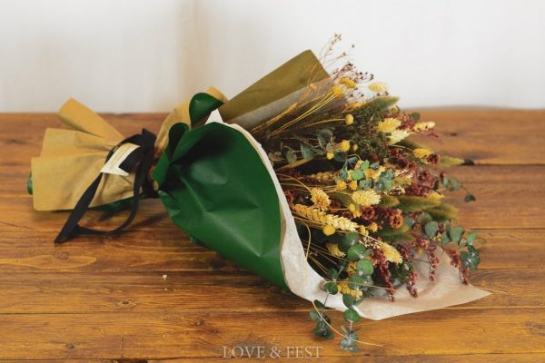 Ramo flores preservadas Marsala LOVE&FEST