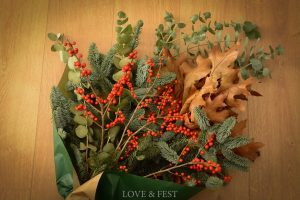 Sutido flor natural Navidad LOVE&FEST 1