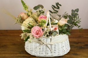 Cesta de flores White Care LOVE&FEST