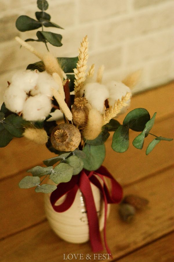 Jarrón cerámica flor Navidad LOVE&FEST