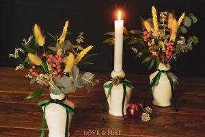 Navidad jarroncitos blancos LOVE&FEST-