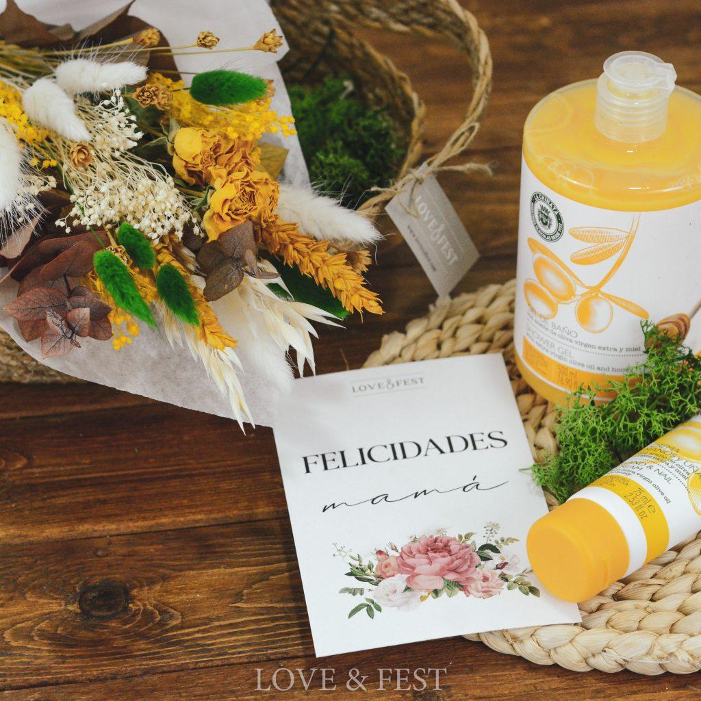 Cesta regalo flores preservadas Yellow