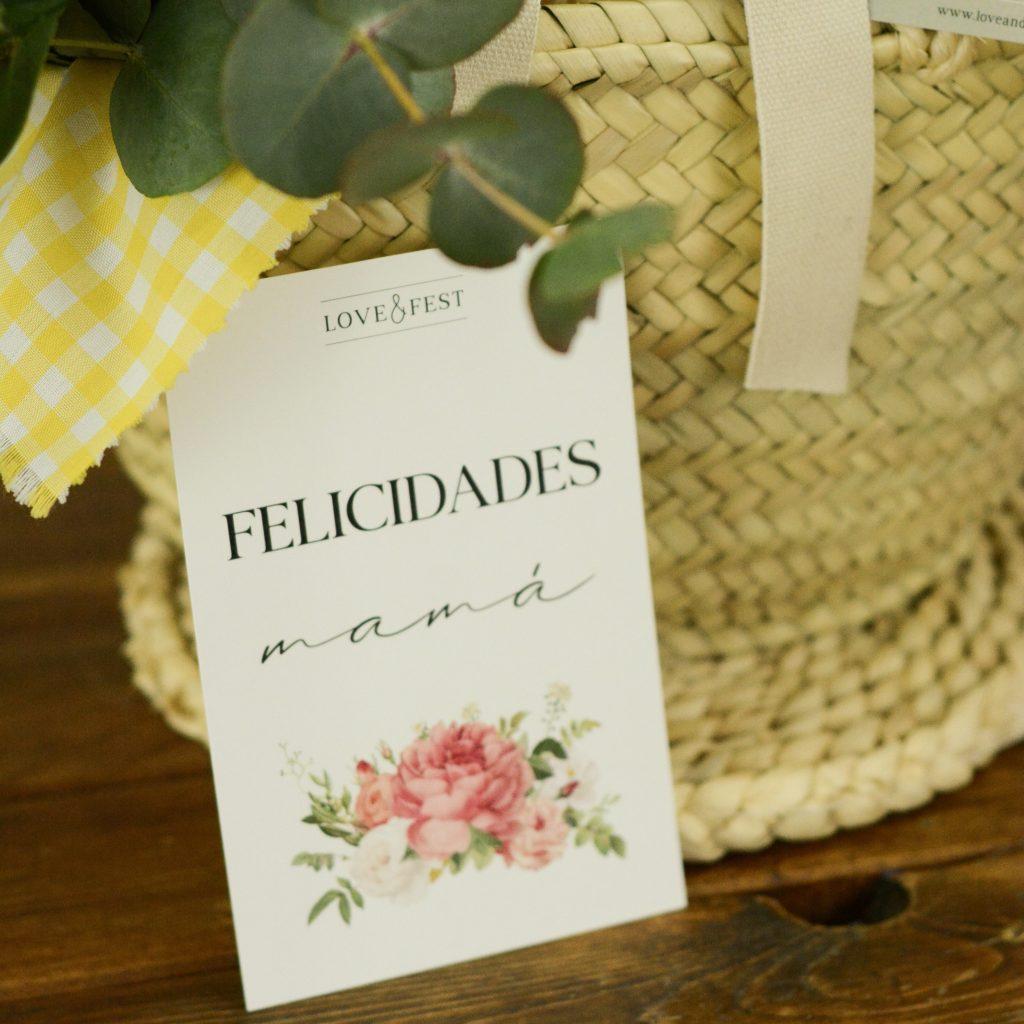 Tarjeta Dia de la madre Love &Fest